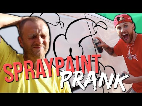 I SPRAY PAINTED MY BROTHERS WORK VAN!!!! *crazy prank*
