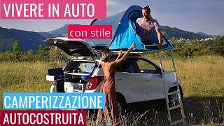 Camperizzazione AUTOCOSTRUITA - come usare la tenda da tetto di CampUp e dormire sulla macchina!