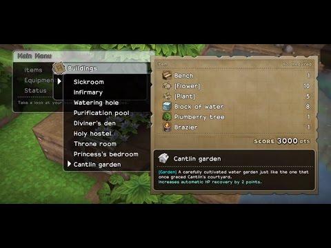 Dragon Quest Builders Building A Cantlin Garden Youtube