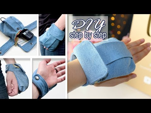DIY AWESOME HAND POUCH JEANS RECYCLE IDEA // Mini Purse Tutorial From Old Jeans