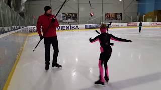 Figure Skating Jumping Harness System. Ryabinin camps. Прыжки на лонжи (удочка). Фигурное катание