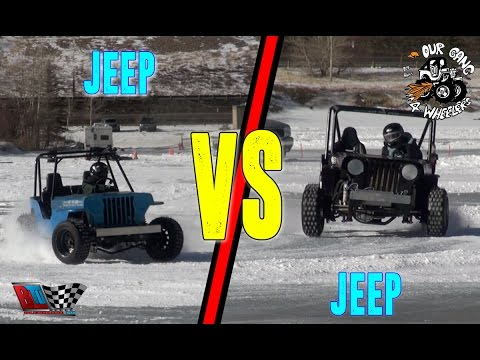 ICE RACING: JEEP VS JEEP 4 CHEATERS RACE GEORGETOWN COLORADO