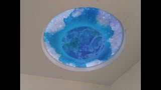 Натяжной потолок в Серпухове. Double Vision