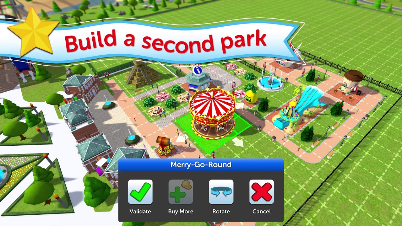 RollerCoaster Tycoon Touch introduces Scenarios Game Mode