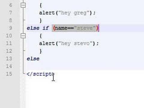 Javascript Tutorial - 10 - If Else If Else Statement