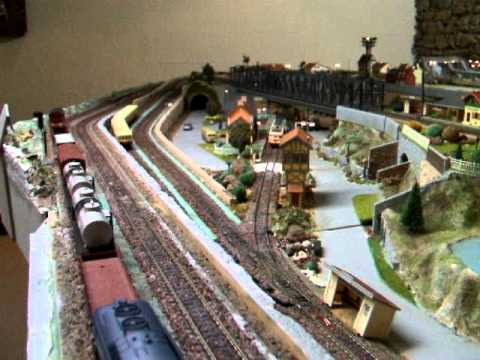 r seau train lectrique maquette d cors clair s youtube