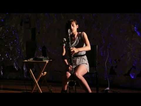 Lea Bertucci - solo amplified bass clarinet - at JACK, Brooklyn - July 13 2014