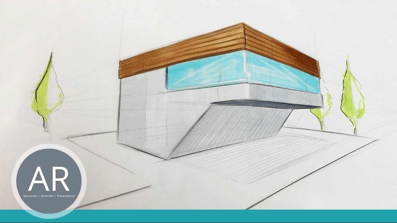Architekturskizzen Einfach Wirkungsvoll Kolorieren Mappenvorbereitungskurs Architektur