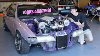 Twin Turbo J Swapped S14 Gets Boost Pipes!