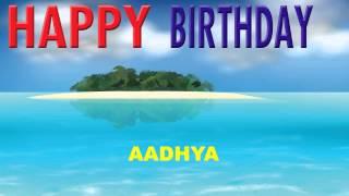 Aadhya   Card Tarjeta - Happy Birthday