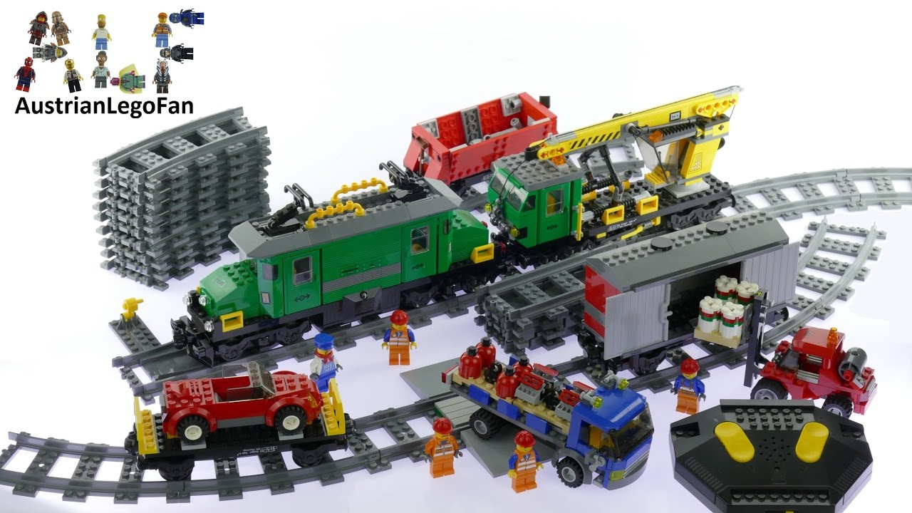 Lego City 7898 Cargo Train Deluxe Lego Speed Build Review Youtube