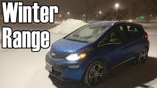 Chevy Bolt EV: Winter Range and Performance (Chicago winter)