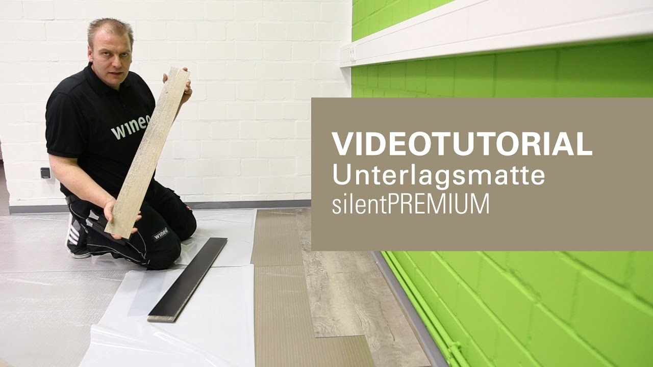 designboden vinylboden verlegen ohne kleber mit silentpremium unterlagsmatte youtube. Black Bedroom Furniture Sets. Home Design Ideas