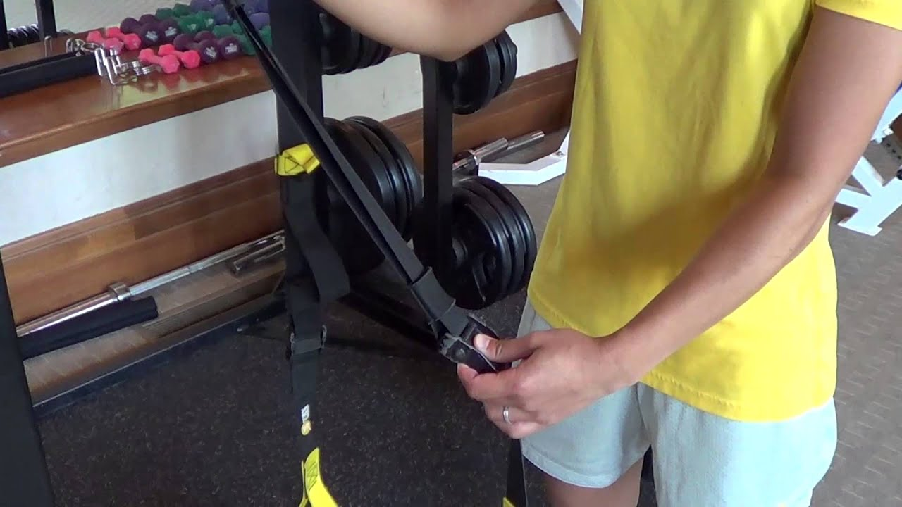 How To Set Up Trx Suspension Trainer Youtube