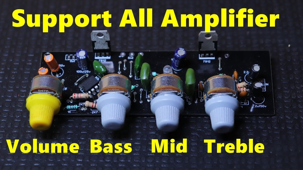 Volume Bass Treble & Mid Circuit for All Amplifier circuit Board