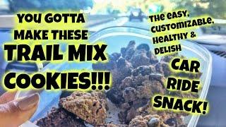 Trail Mix Cookies! Perfect Car Ride Snack. (gluten Free, Vegan, Paleo...)