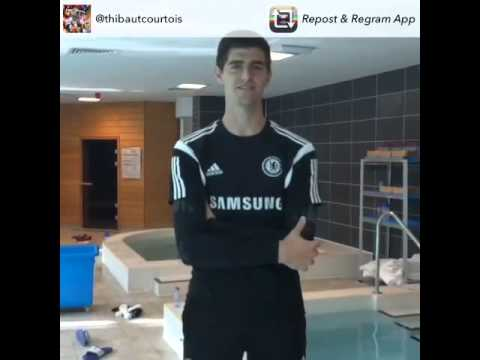 Thibaut Courtois ice bucket challenge