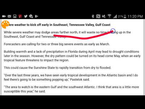 Weather Outlook (Spring Forecast) (Strong Storm In Tennesee Valley For March & (U.S Outlook)
