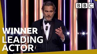 Joaquin Phoenix wins Leading Actor BAFTA 2020 🏆 - BBC