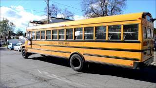 LAVAL QUEBEC SCHOOL BUSES IN ACTION