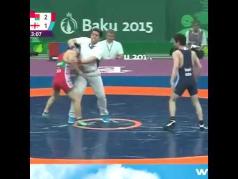 Драка на олимпиаде.Баку 2015