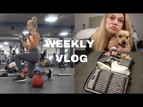 WEEKLY VLOG | Preparing for America, Gym, Lip Fillers, Packing My Suitcase