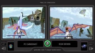 Panzer Dragoon (PC vs Sega Saturn) Side by Side Comparison