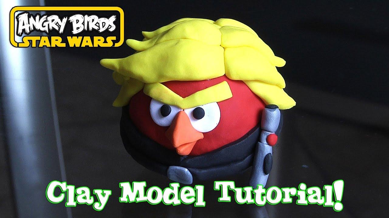 Luke skywalker jedi knight bird clay model tutorial from - Angry birds star wars 7 ...