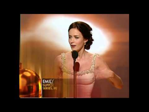 Emily Blunt Wins Best Supporting Actress TV Series  Golden Globes 2007