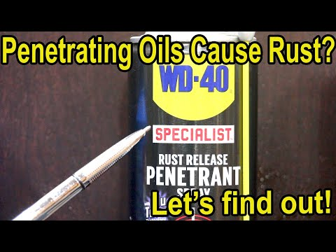"""Do Penetrating Oils """"Attack"""" Rust?  Let's Find Out!"""