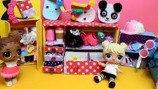 ШКАФ для КУКОЛ LOL SURPRISE.  Для кукол  ЛОЛ  своими руками. Как сделать мебель для кукол.