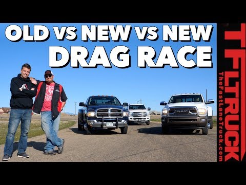Russian Collusion! Old vs New Diesel Dually Drag Race
