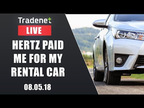 Day Trading Live - Hertz paid me for my rental car
