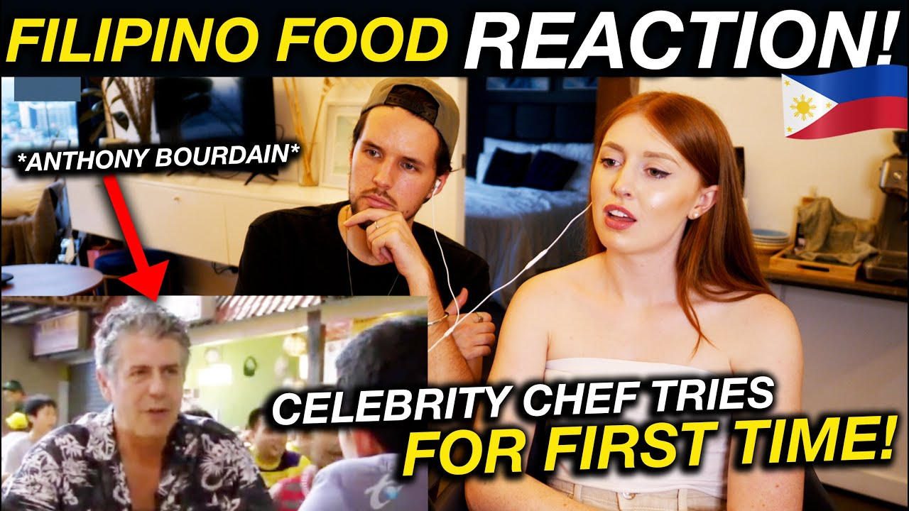 Famous Chef Reacts to FILIPINO FOOD! Anthony Bourdain in Philippines Reaction