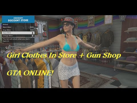 Grand Theft Auto Online: Girl Clothes In Store + Gun Shop (First Look Online)