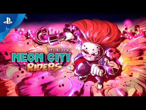 Neon City Riders - Launch Trailer | PS4