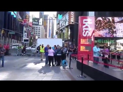 Times Square New York City, right in the center October 2015