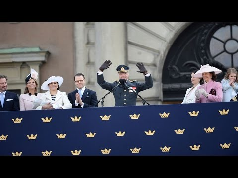 #Kungen70 | King Carl XVI Gustaf's Birthday - Balcony.