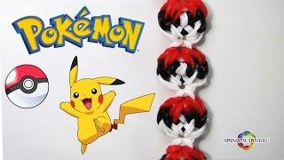 Браслет Pokeball из POKEMON GO Урок 44  Rainbow Loom Bands Bracelet POKEBALL from Pokemon GO