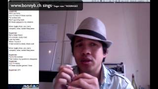 Bonny B. sings & plays harmonica F(2pos.) '' Sugar man '' Cover RODRIGUEZ