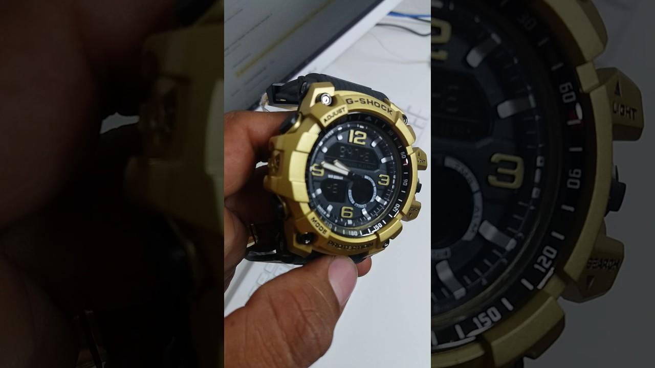 c949f68bec6 G shock preto com dourado barato e fret grats - YouTube