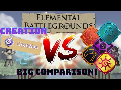 BIG COMPARISON! - Creation VS Explosion, Slime, Chaos, Nightmare, Reaper!  Elemental Battlegrounds 