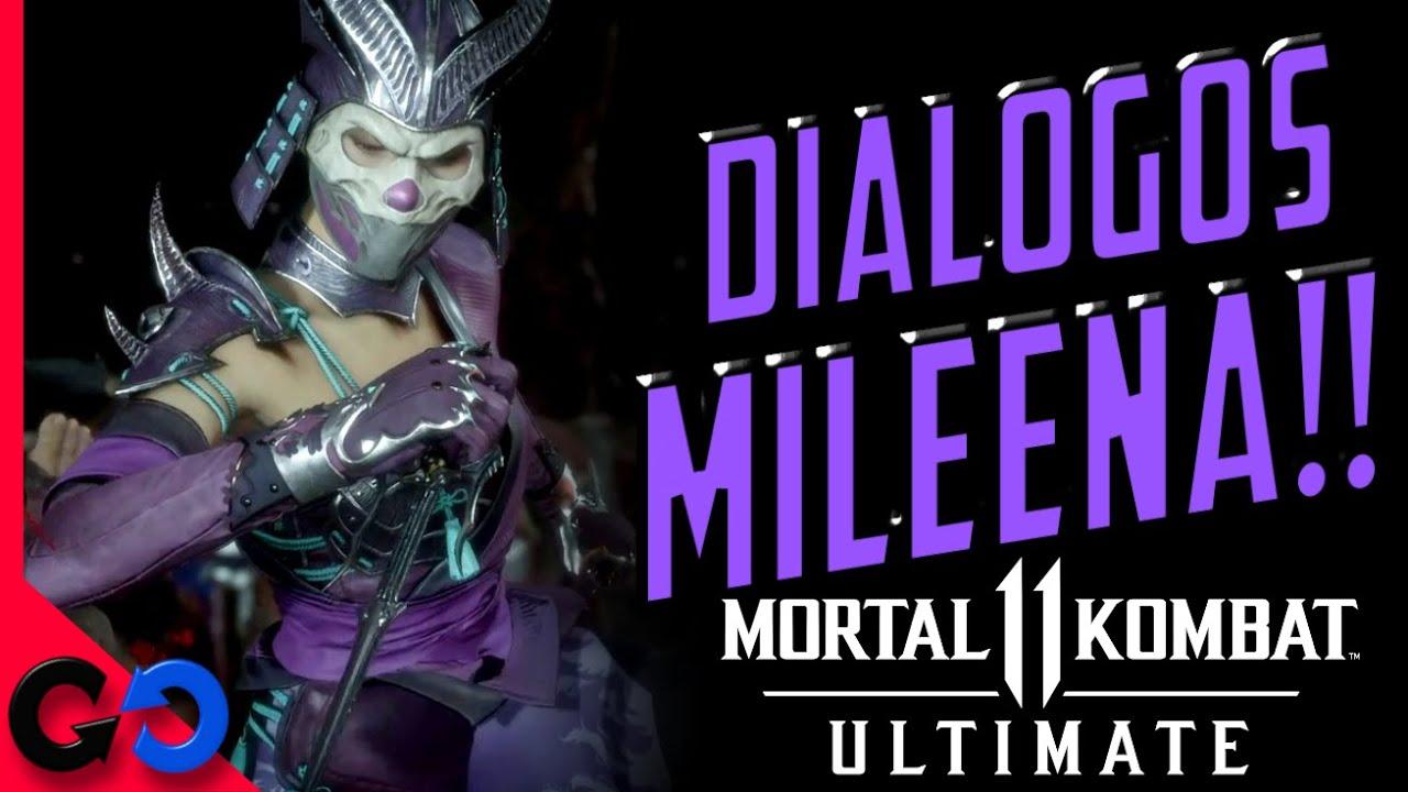 Mortal Kombat 11 TODOS los DIALOGOS de Mileena!! Español Latino!