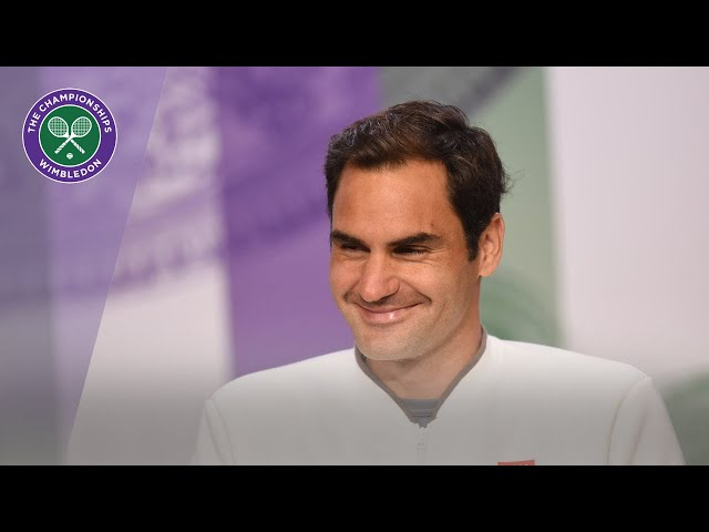 Roger Federer Runner-Up Press Conference Wimbledon 2019