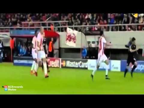 Olympiakos vs Dinamo Zagreb 2-1 All Goals 2015  (Champions League)