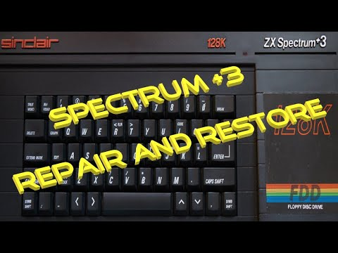 Sinclair ZX Spectrum +3. A 30 Year Old Repair And Restore.