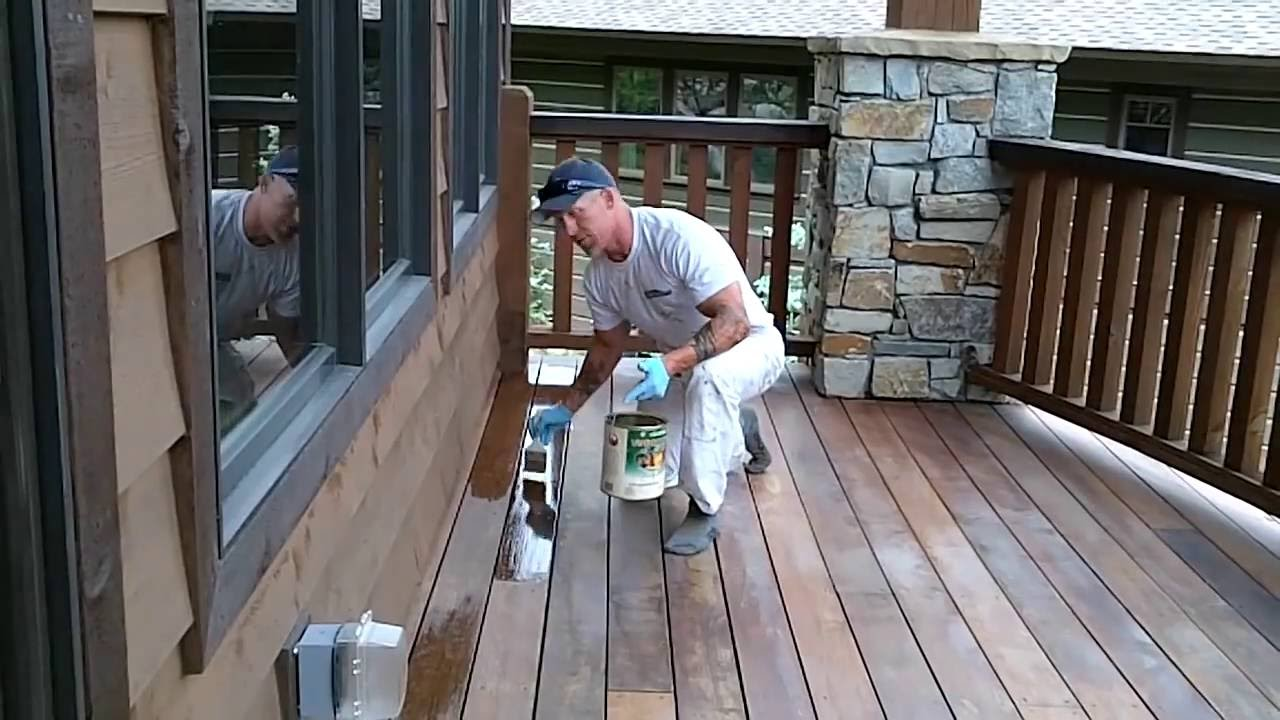 Clear Coating An Exotic Wood Deck How To Stain A Deck