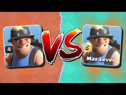LEVEL 4 vs MAX LEVEL 5 MINERS! Clash of Clans Troop Showdown - CoC Mass Miner Attacks