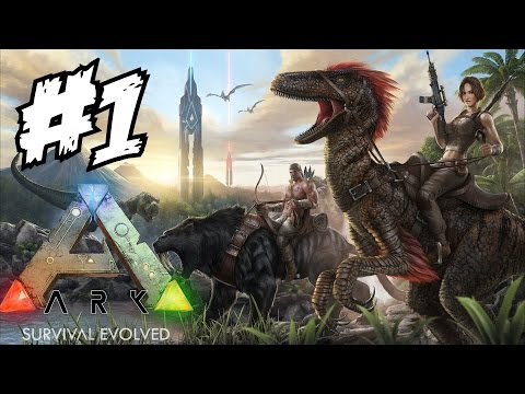 ARK Survival Evolved Gameplay Walkthrough Part 1 Let's Play Playthrough Review 1080p 60 FPS