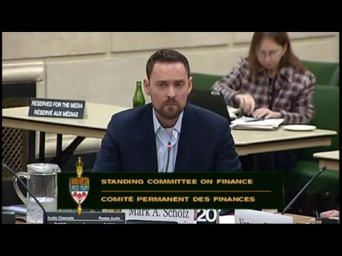 Oil Respect addresses the HOC Finance Committee